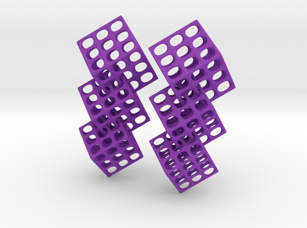 Triple Matrix Earrings 3d printed