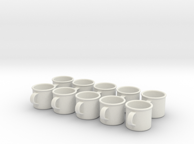 1/6 Scale WWII British Driking Cup.Set of 10 3d printed
