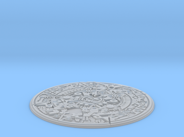 Smaller Aztec Medallion in Smooth Fine Detail Plastic