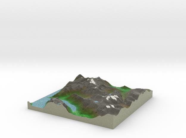 Terrafab generated model Tue Jan 28 2014 22:29:00  in Full Color Sandstone