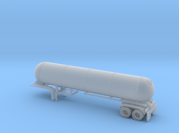 N scale 1/160 LPG 45' twin-axle tanker, trailer 15 in Smooth Fine Detail Plastic