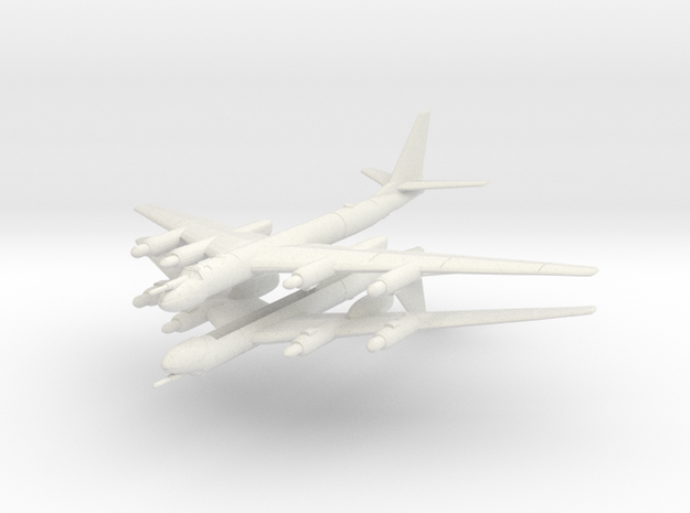 Tu-95 1:600 x2 in White Strong & Flexible