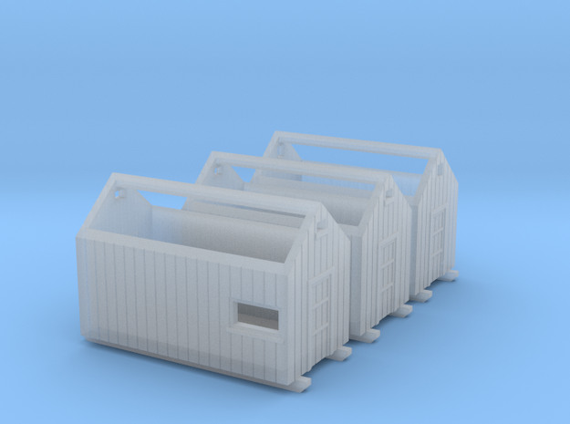 Z logging - Storage Sheds (3pcs) in Smooth Fine Detail Plastic