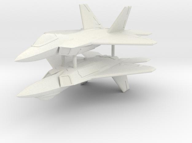 1/350 F-22A Raptor (x2) in White Natural Versatile Plastic