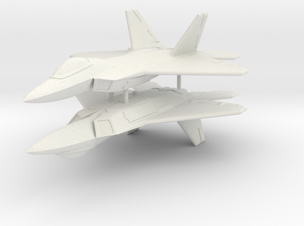 1/285 F-22A Raptor (x2) in White Strong & Flexible