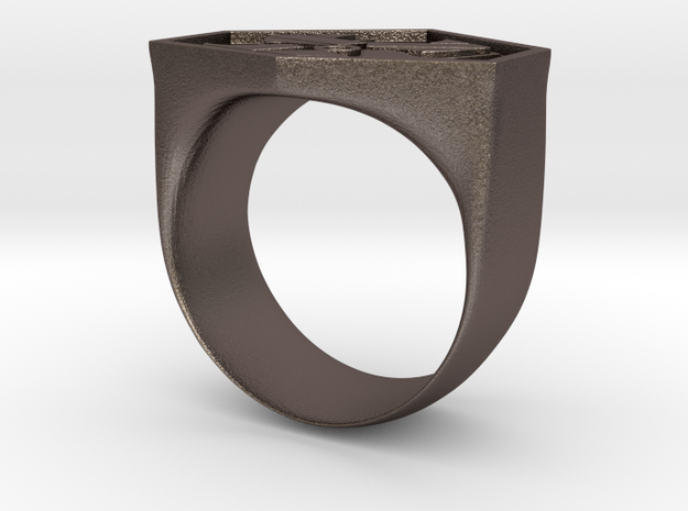 Air Force Ring in Polished Bronzed Silver Steel