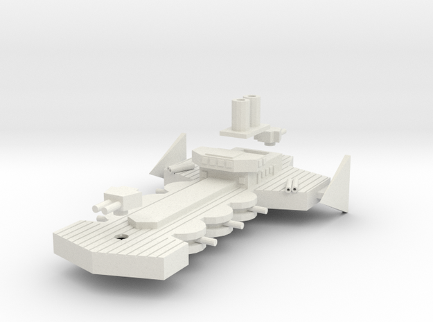 Daring Class Light Cruiser in White Natural Versatile Plastic