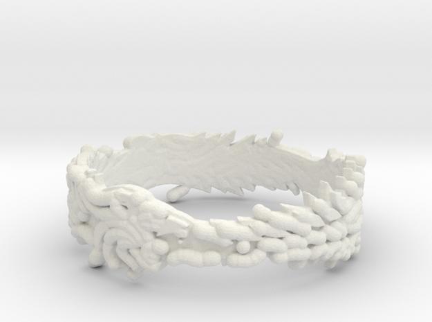 OuroBoros Ring Size 11.25 in White Natural Versatile Plastic