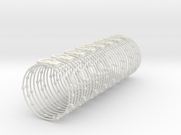 Gallium Napkin  Ring in White Natural Versatile Plastic