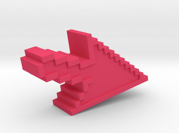 Pixel Click Pendant - Earring 3d printed computer click