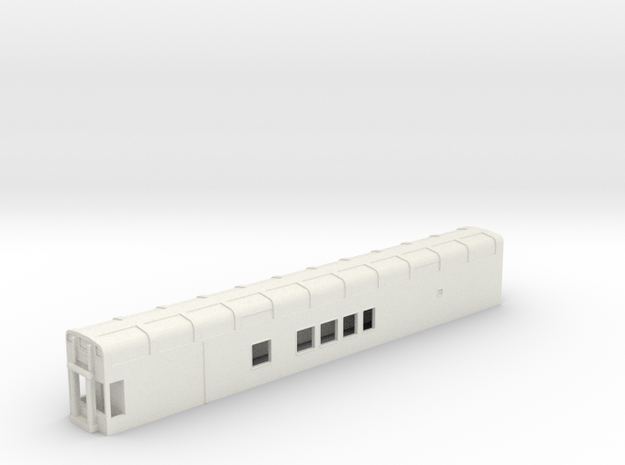N Scale Rocky Mountaineer B Series No Platform in White Natural Versatile Plastic