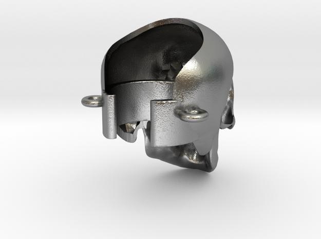 Crâne à la cigarette électronique in Natural Silver