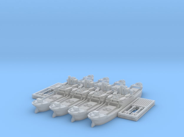 "1/1250 EFC 1020 ""Laker"" x4 3d printed"