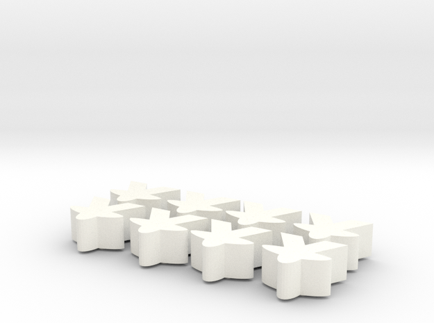 Meeples with heart 3d printed
