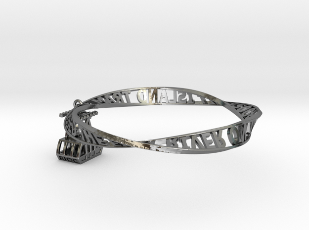 Roosevelt Island Moebius Bracelet with Tram Charm 3d printed