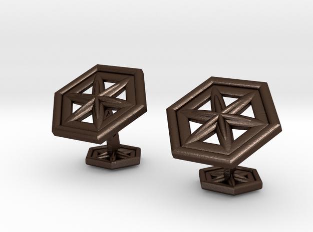 Snowflakes1Cufflinks 3d printed