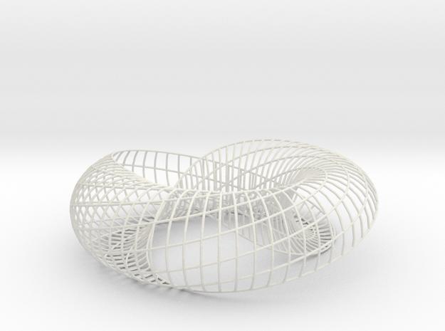 spiraling arc | bracelet 32x8 | SLS in White Natural Versatile Plastic