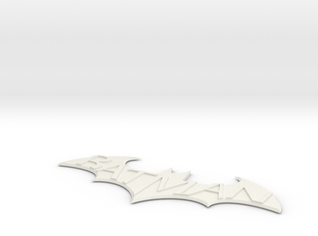 Batman Arkham City Logo in White Strong & Flexible