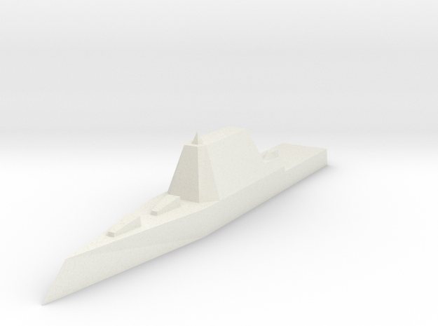 Zumwalt Class Destroyer 1:1800 x1 in White Natural Versatile Plastic