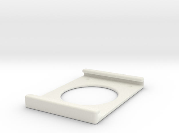 iPad Wall Mount in White Natural Versatile Plastic