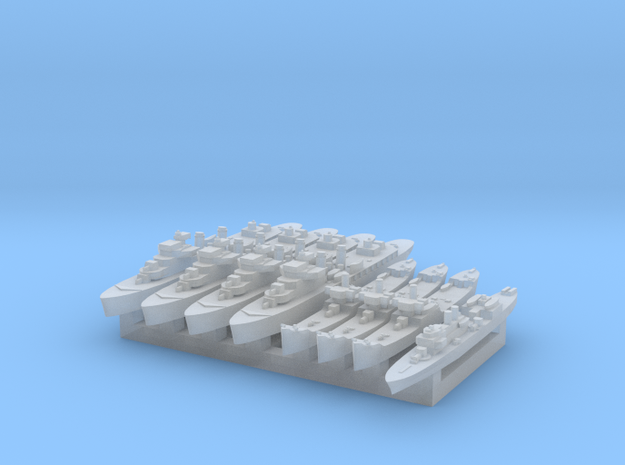 French Colonial Fleet 1:4800 (8 ships) 3d printed