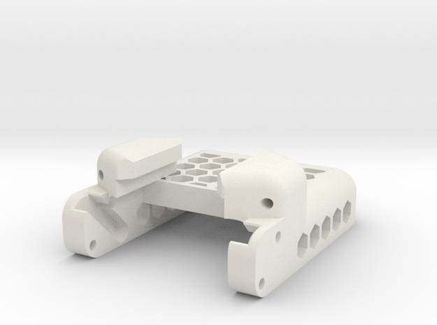NVG Go Pro Mount (Mount Rail) in White Natural Versatile Plastic