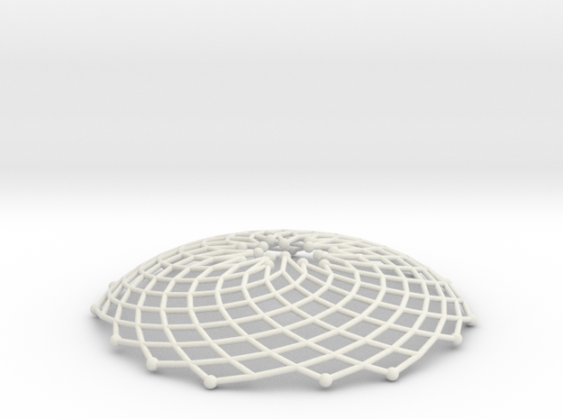 Phyllotaxis Sunflower n200 inc7 5 | pendant in White Natural Versatile Plastic