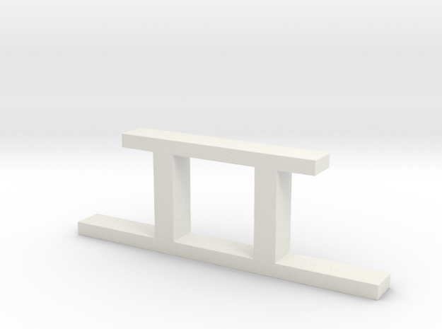 Pit Pier - Simple in White Strong & Flexible