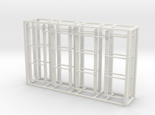 Modern boxcar ladder set in White Strong & Flexible