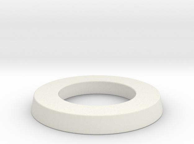 adapter ring for eBike belt disk in White Natural Versatile Plastic