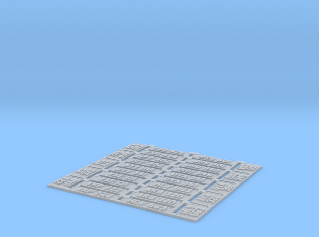 1:43 No. Plates  Set of 10 in Smooth Fine Detail Plastic