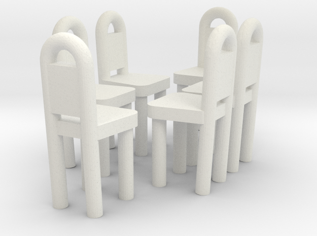Dining Chairs 1  in White Natural Versatile Plastic