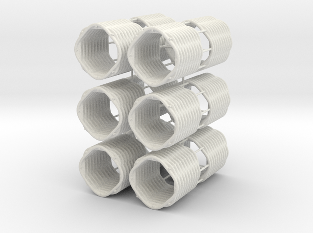 28 mm Gabions in White Natural Versatile Plastic