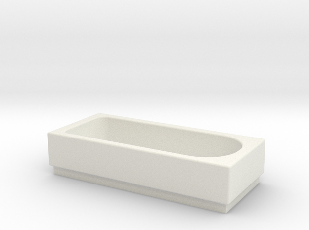 Bath OO Scale in White Natural Versatile Plastic