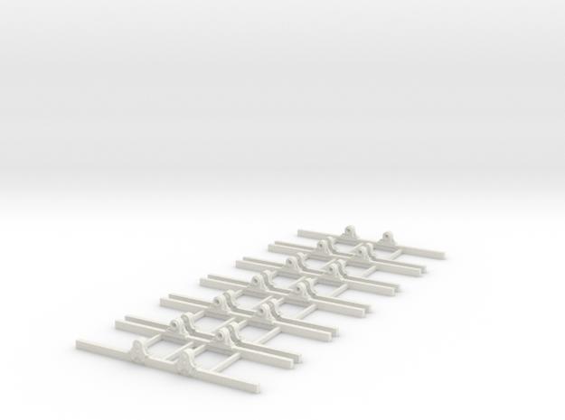 OO9 Underframe type b 3ft 6 wb x6 3d printed