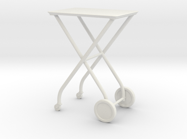 1:24 Medical Cart in White Natural Versatile Plastic