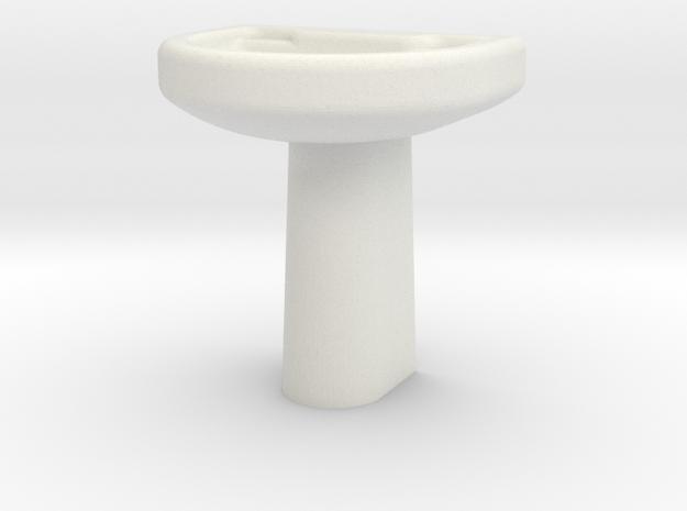 Wash Basin  in White Natural Versatile Plastic