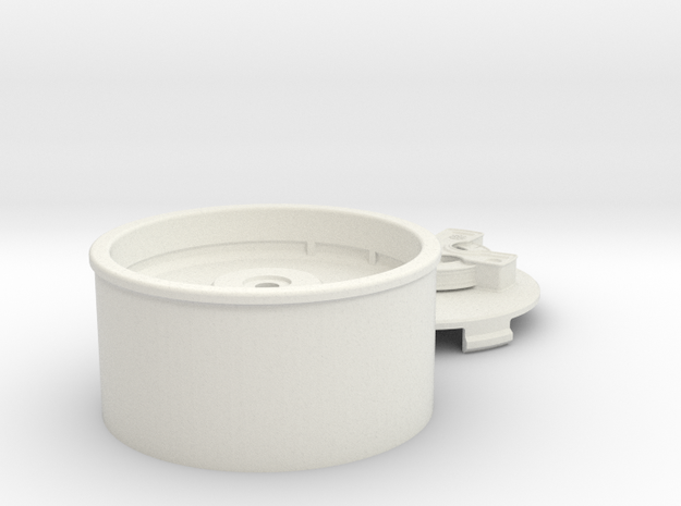 Helios Cross Wheel in White Natural Versatile Plastic