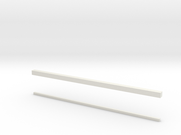 thin bars 1mm and 2mm in White Natural Versatile Plastic