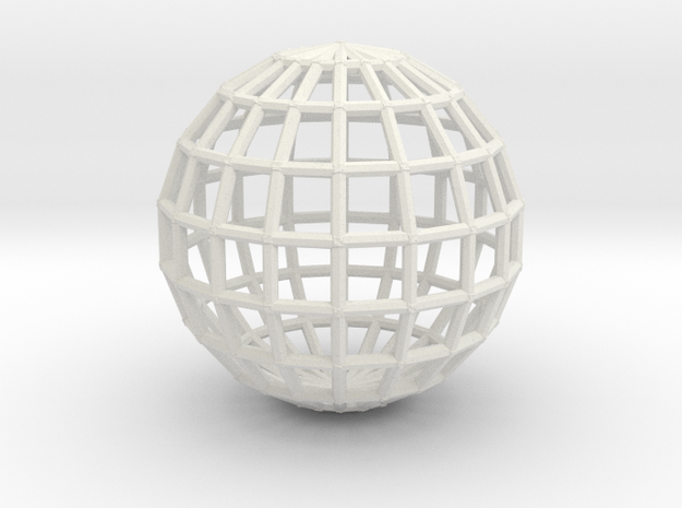 globeWireframe 3d printed