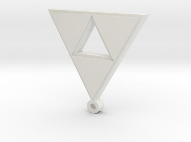 triforce pendant in White Natural Versatile Plastic