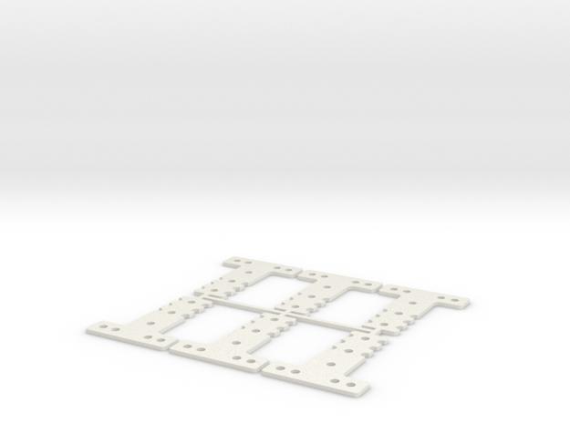 LM-MM 40 THK #6 SET in White Natural Versatile Plastic
