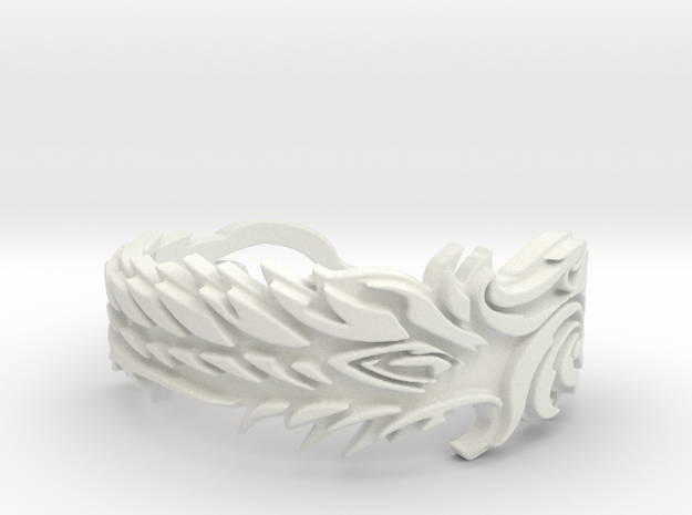 Covenants Crest Ring Size 10 in White Natural Versatile Plastic