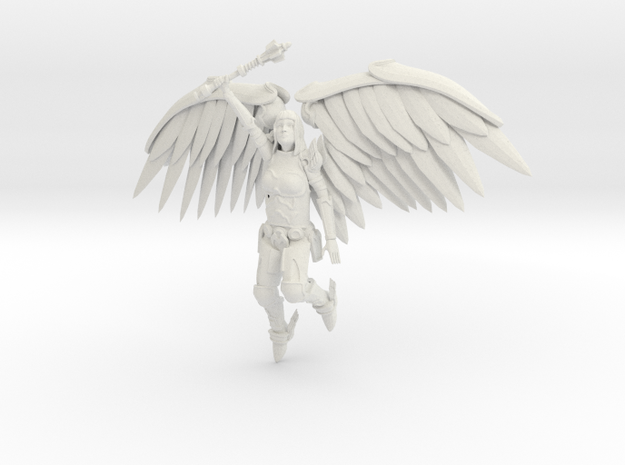 5 Inch Tall Metal Angel Hollow 3d printed