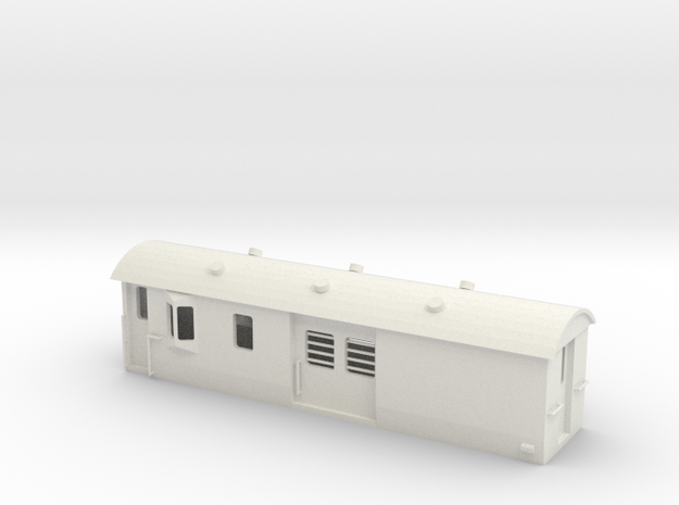 30ft Guards Van, New Zealand, (S Scale, 1:64) in White Natural Versatile Plastic