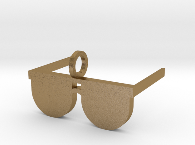 Sunglasses Pendant in Polished Gold Steel