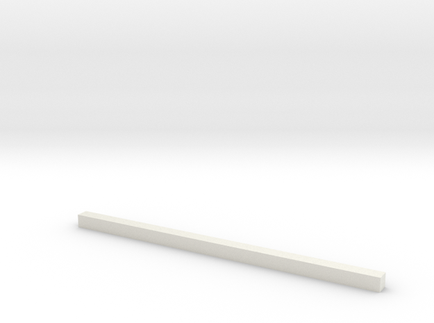 thin bars 2 5mm thickness in White Natural Versatile Plastic