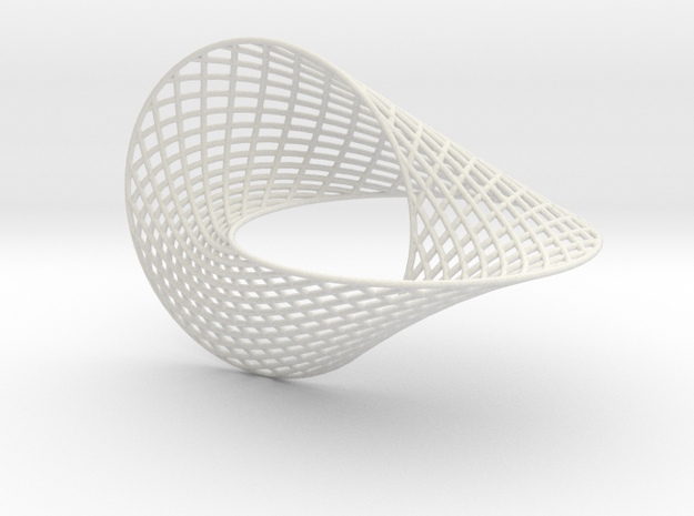 Hopf ring 5inch in White Natural Versatile Plastic