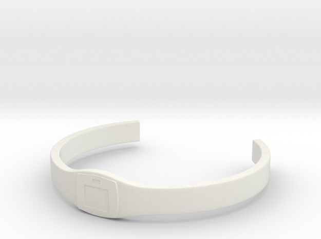 Battle Royale Collar  in White Natural Versatile Plastic