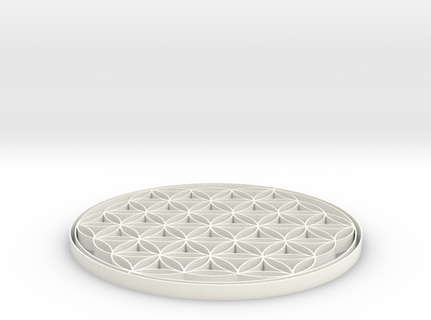 Flower of life coaster 90x4mm 3d printed